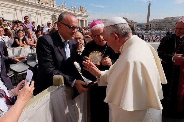 Calice del nuovo santuario, benedetto da Papa Francesco