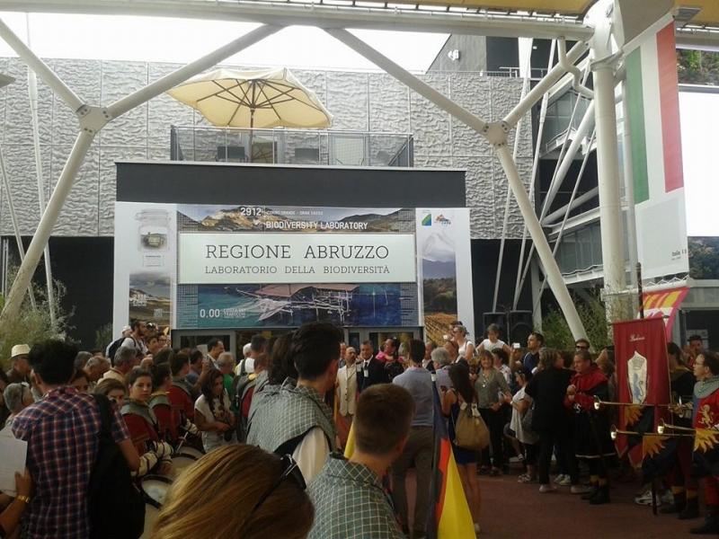 Padiglione Abruzzo all'interno dell'Expo